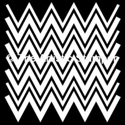 "The Artistic Stamper Chevron Mask 6"" x 6"""