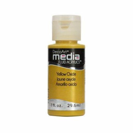 DecoArt Media Fluid Acrylic - Yellow Oxide