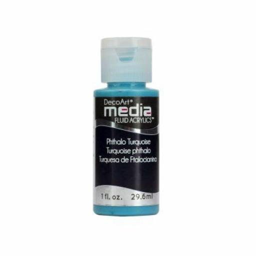 DecoArt Media Fluid Acrylic - Phthalo Turquoise