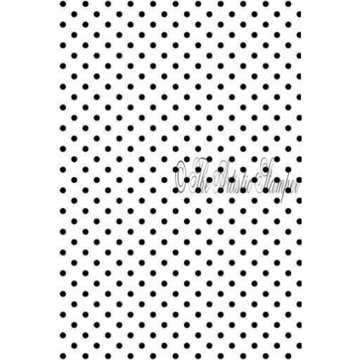 Dots background size A6 ( cut and mounted on cling cushioning )