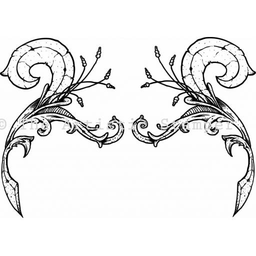 Ornate Flourish 1 (cut out and mounted on cling cushioning)