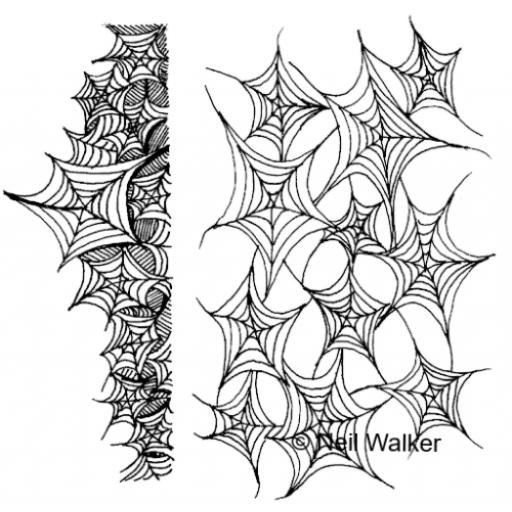 Web Background & Border A5 © Neil Walker ( cut and mounted on cling cushioning )