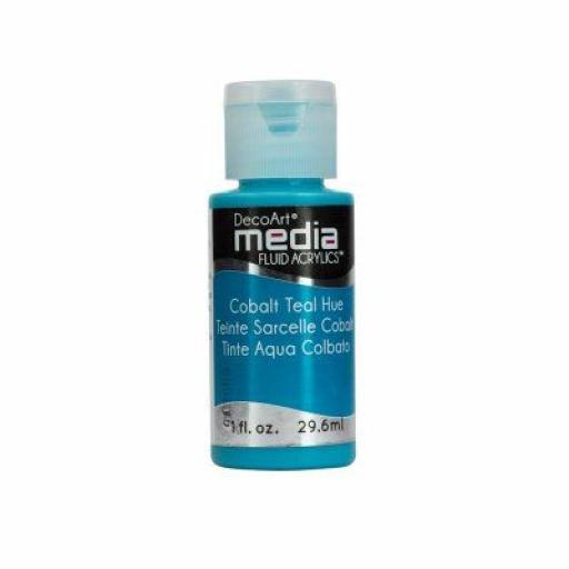 DecoArt Media Fluid Acrylic - Cobalt Teal Hue