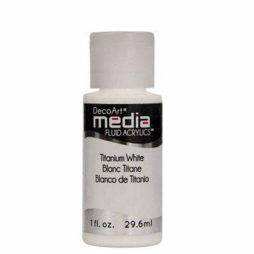 DecoArt Media Fluid Acrylic - Titanium White