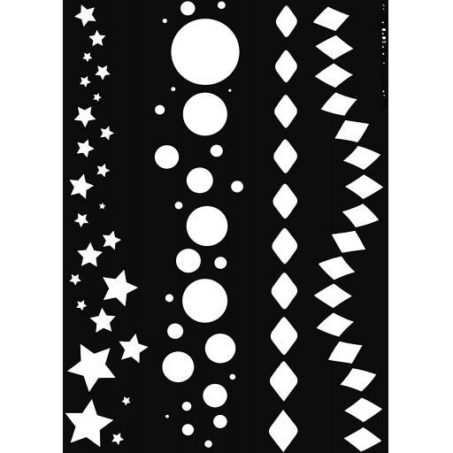 The Artistic Stamper Borders 1 A4 Stencil