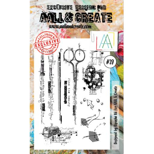 AALL & CREATE clear stamp #39