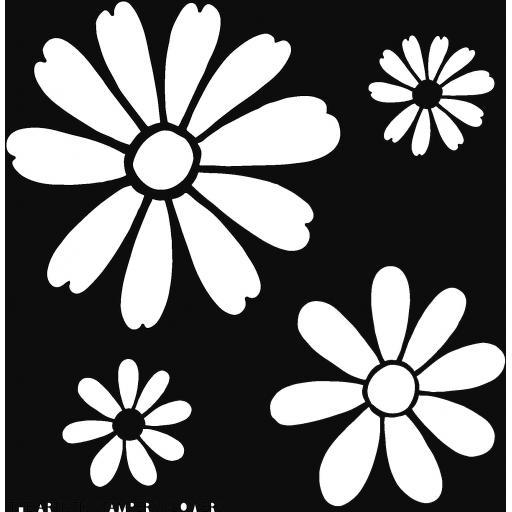 "The Artistic Stamper Flowers 6"" x 6"" Stencil © Lesley Matthewson"