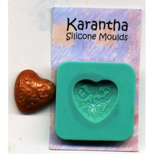 Karantha Silicone Mould- Figured Heart