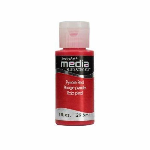 DecoArt Media Fluid Acrylic - Pyrrole Red