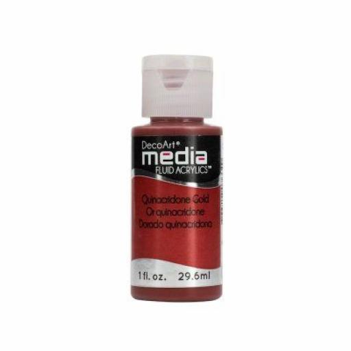 DecoArt Media Fluid Acrylic - Quinacridone Gold
