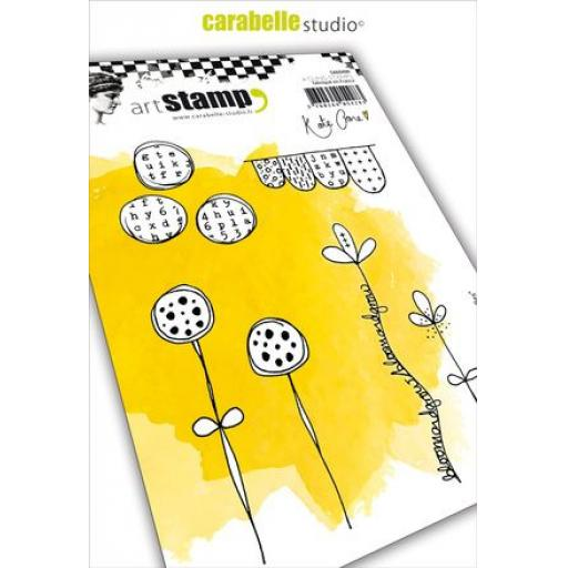 Carabelle - Cling Stamp A6 : Journal Doodles by Kate Crane