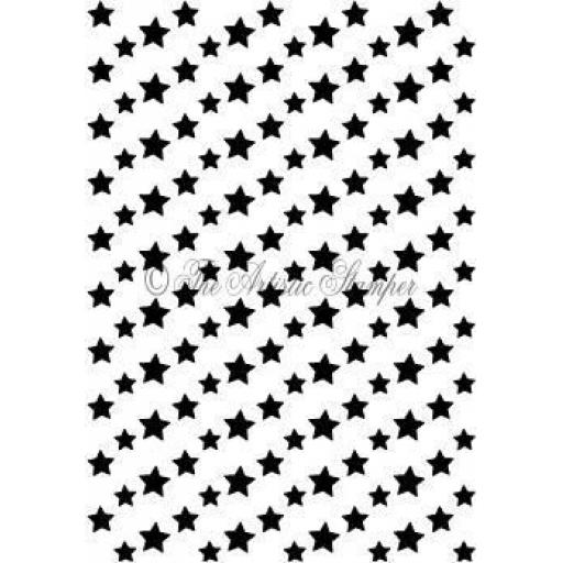 Stars Background 2 size A6 (cut out and mounted on cling cushioning)