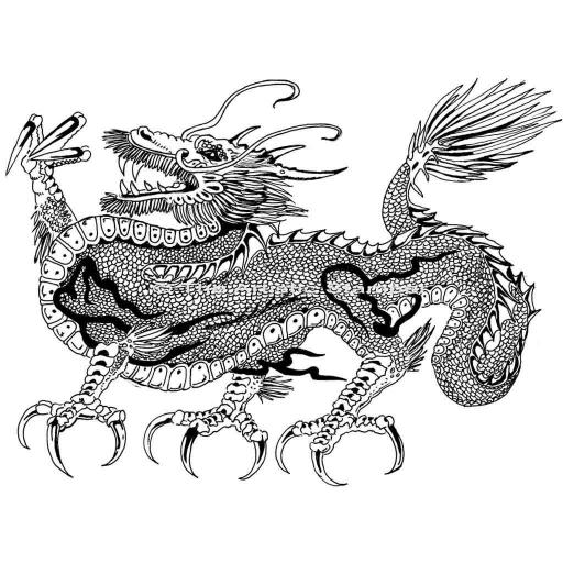 Dragon (cut out and mounted on cling cushioning)
