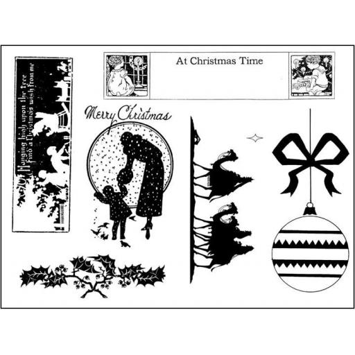Victorian Christmas # 4 A5 (cut out and mounted on cling cushioning)