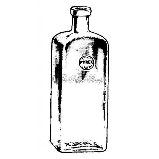 Pyrex Bottle (cut out and mounted on cling cushioning)