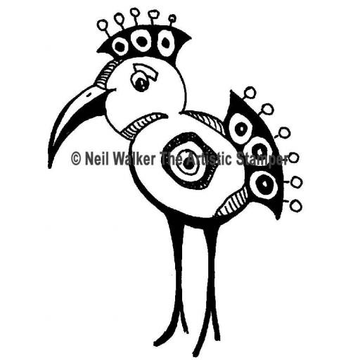 Bobble Bird size 70mm x50mm © Neil Walker (cut out and mounted on cling cushioning)