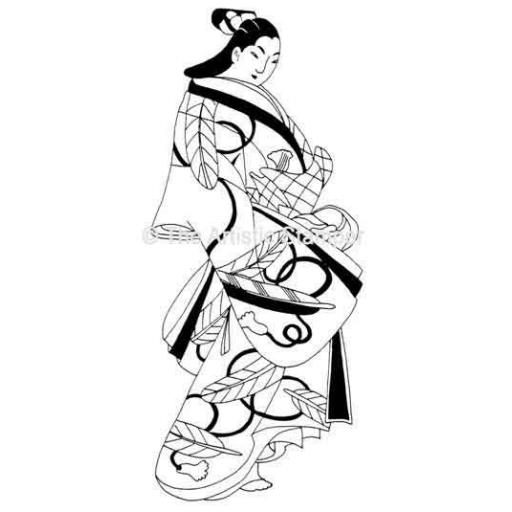 Geisha Large (cut out and mounted on cling cushioning)