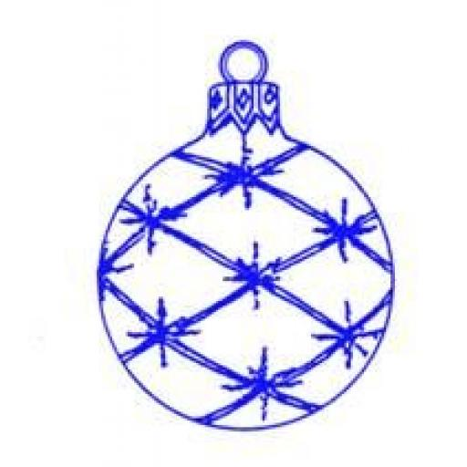 Round Wire Bauble size 5.25 x3.25 cm (cut out and mounted on cling cushioning)