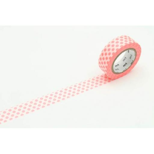 Washi Tape - Dot Shocking Red 15mm x 10m