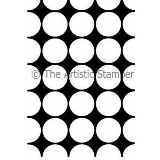 Large Dotty Open background size A6 (cut out and mounted on cling cushioning)