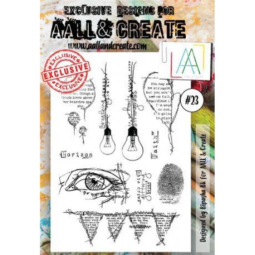 AALL & CREATE clear stamp #23