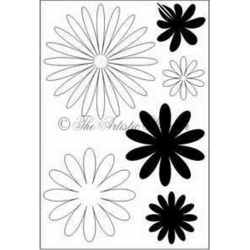 Flower Fever A6 (cut out and mounted on cling cushioning)