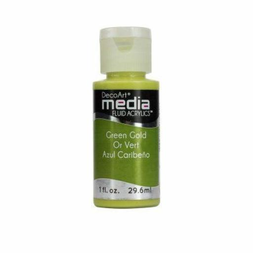 DecoArt Media Fluid Acylic - Green Gold