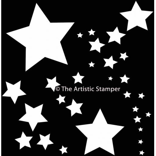 "The Artistic Stamper mask- Stars 6"" x 6"""