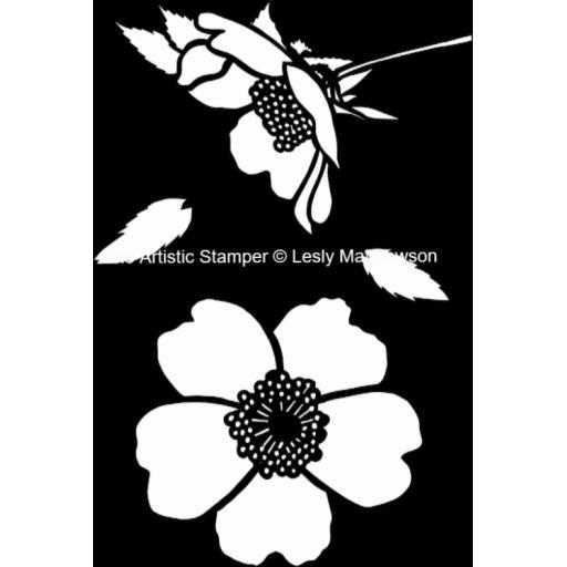 The Artistic Stamper Dog Rose A4 © Lesley Matthewson