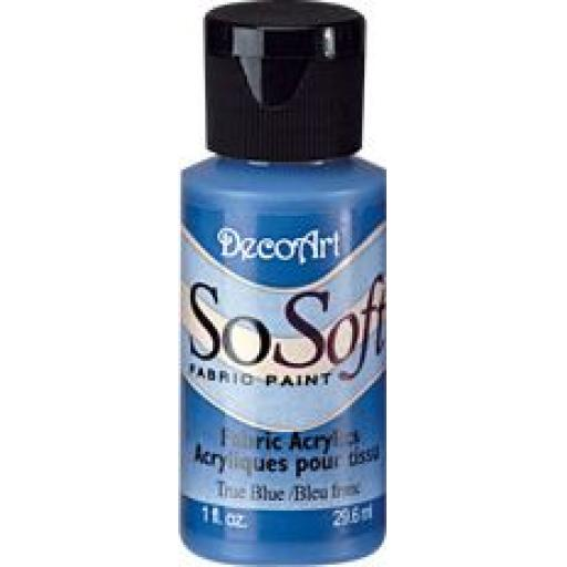 DecoArt SoSoft Fabric Paint - True Blue