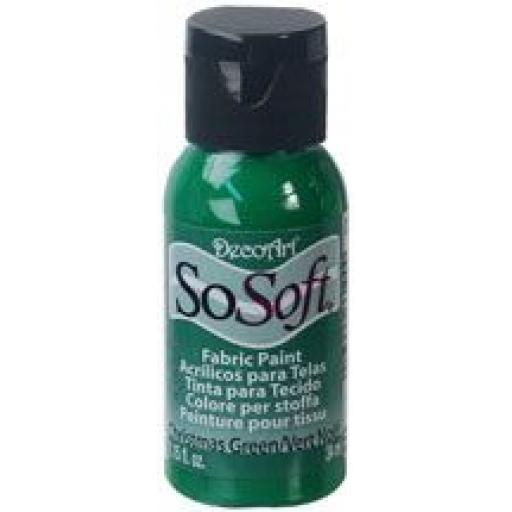 DecoArt SoSoft Fabric Paint - Christmas Green
