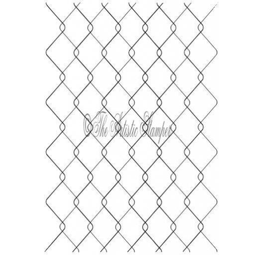 Chicken Wire Background size A6 ( cut and mounted on cling cushioning )