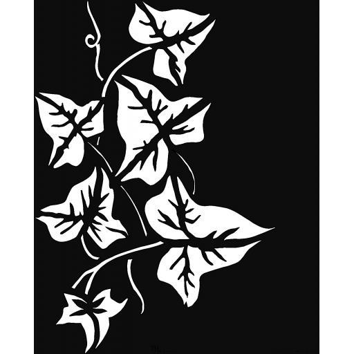 """The Artistic Stamper Ivy Stencil 6"""" x 6"""" © Lesley Matthewson"""