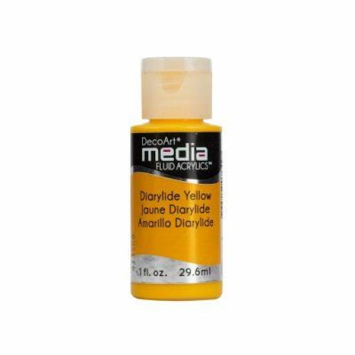 DecoArt Media Fluid Acrylic - Diarylide Yellow