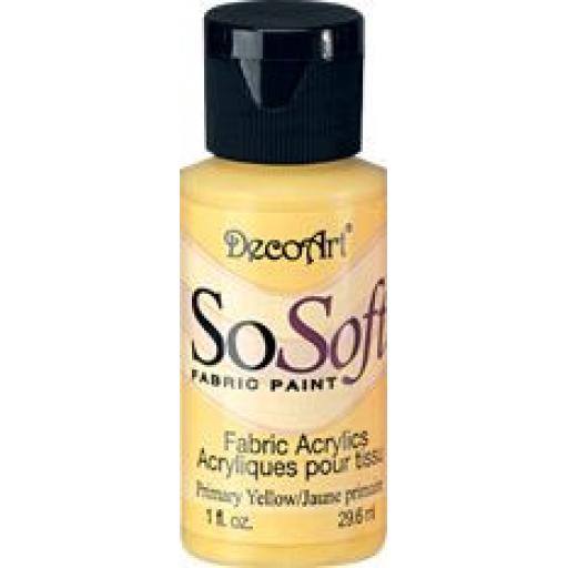 DecoArt SoSoft Fabric paint primary yellow 1 fl. oz