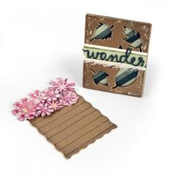 Sizzix Thinlits Dies set 4PK Journaling Cards Flowers & Leaves by Eileen Hull