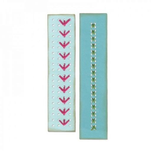 Sizzix Thinlits Dies set 2PK Border Stitchlits by Eileen Hull