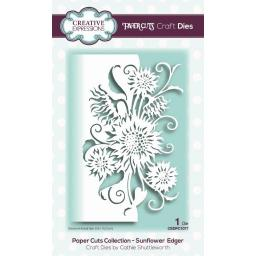 Creative Expressions -Paper Cuts Collection -Sunflower Edger