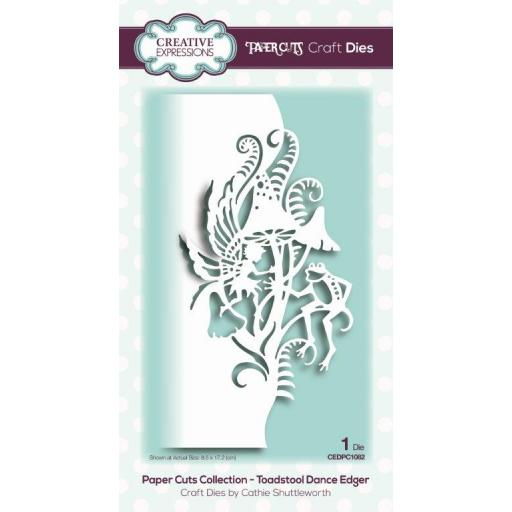 Creative Expressions -Paper Cuts Collection -Toadstool Dance Edger