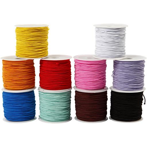 Coloured Elastic x 10 colours x 1 metre of each