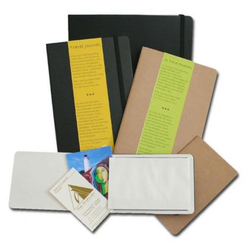 Travel Journal 9x14cm Portrait x 62 Sheets/124 Pages ( Black Cover)