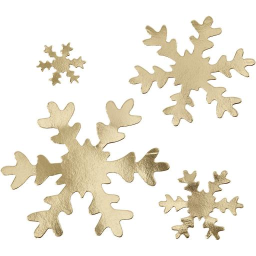 Faux Leather Paper Snowflakes - Gold