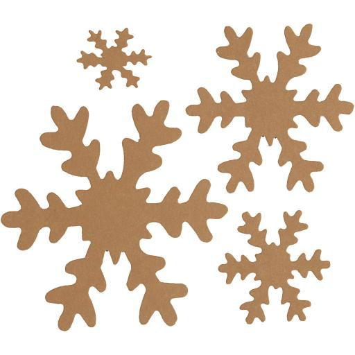 Faux Leather Paper Snowflakes - Natural