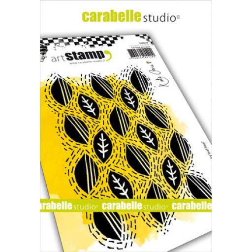 Carabelle Studio Kate Crane Rubber Stamp - Wonky Leaf Line