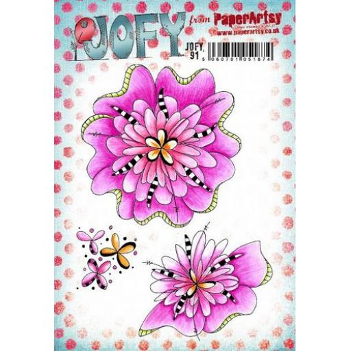 PaperArtsy -JOFY91 (A5 set, trimmed, on EZ)