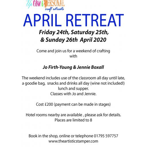 Up Close & Personal Retreat April 24th, 25th, 26th 2020 -£200- payable in instalments