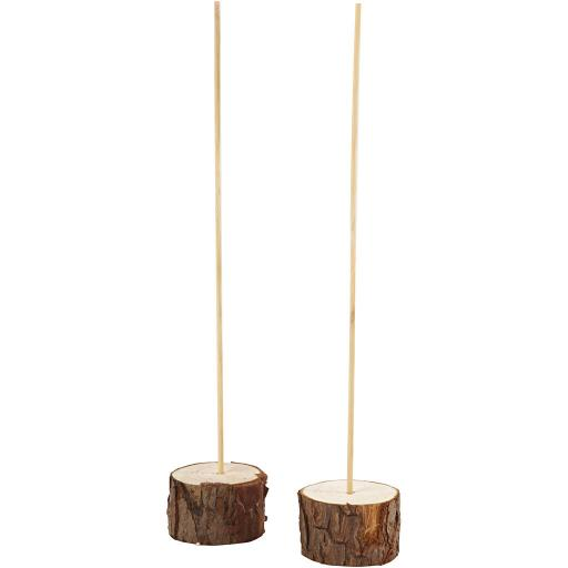 Wooden stands, D: 5 cm, H: 3 cm, , 2sets