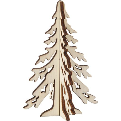 Christmas Tree, H: 12.5 cm, W: 8.5 cm, plywood, 1pc