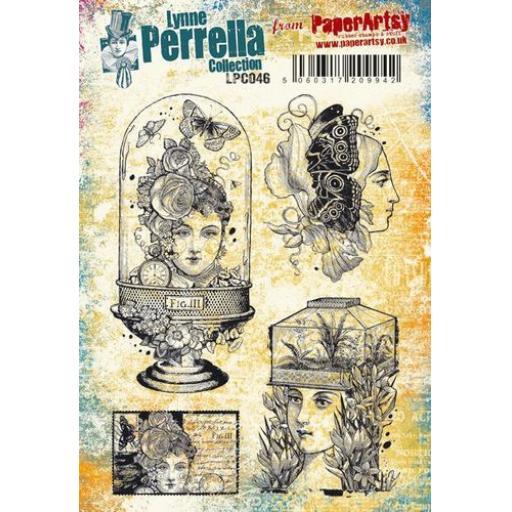 PaperArtsy - Lynne Perrella LPC046 (A5 set, cling-foam trimmed)
