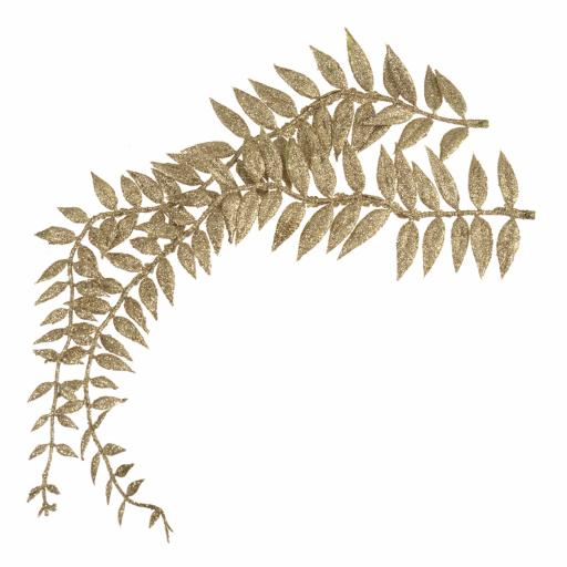 Leaves: Fern: 8 x 22cm: 3 x Bunches of 2 Stems: Gold